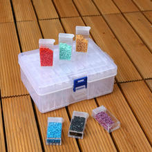 Storage-Box Painting with Lid Multi-Grids Jewelry Drill-Collection Organization-Case
