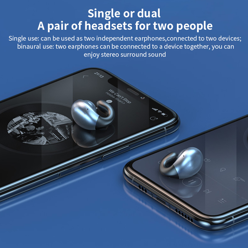 Tws Wireless Bluetooth Headphones S19 Bone Conduction Binaural Earphones Hd Call Touch Control Headsets Sports Hanging Earbuds Bluetooth Earphones Headphones Aliexpress