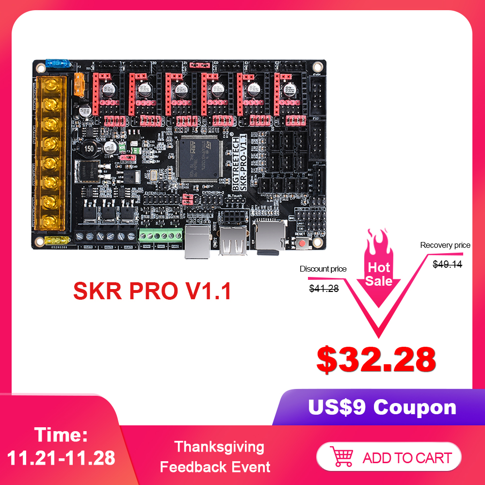 BIGTREETECH SKR PRO V1.1 Motherboard 32-Bit Support TMC2208 UART TMC2130 Driver For Series Double Z-axis 3D Printer SKR V1.3 CNC