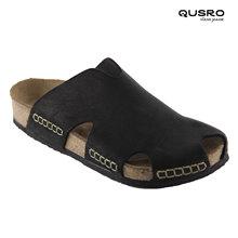 2021 nowych mężczyzna buty korkowe buty casualowe sandały zamknięte Toe prawdziwej skóry korek ręcznie antypoślizgowe antybakteryjne tanie tanio QUSRO TR (pochodzenie) Poza Skóra bydlęca Kapcie Korka Niska (1 cm-3 cm) Pasuje prawda na wymiar weź swój normalny rozmiar