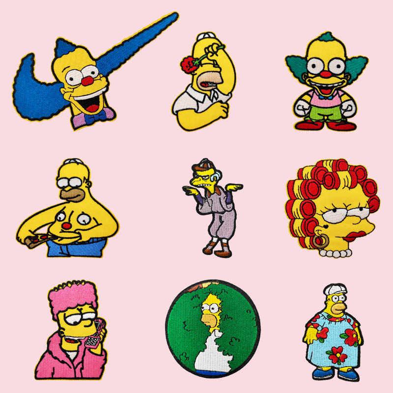 Homer Simpson Revient Dans Les Buissons Broche Drole Brode Fer Sur Des Patchs Pour Vetements Halloween Bricolage Aliexpress