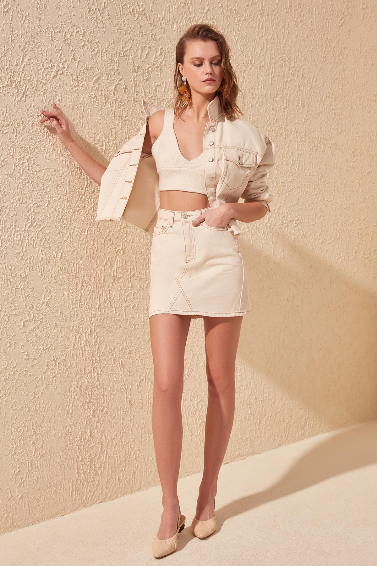 Trendyol Basic Denim Skirt TWOSS20ET0181