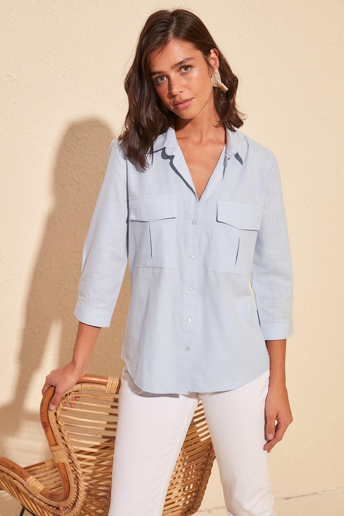 Trendyol Double Pockets Shirt TWOSS20GO0246