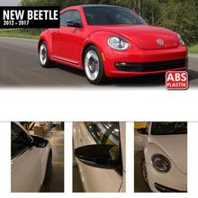 Caps Beetle Volkswagen Gloss Black for New Mirror-Covers Rearview-Case Bat-Style Abs-Plastic