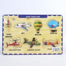 Детские игрушки Монтессори деревянная головоломка ручной захват доска набор обучающая деревянная игрушка мультфильм воздушные транспортные средства