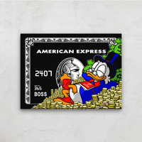 1 Piece printed Painting AMERICAN EXPRESS Framed Canvas Wall Art