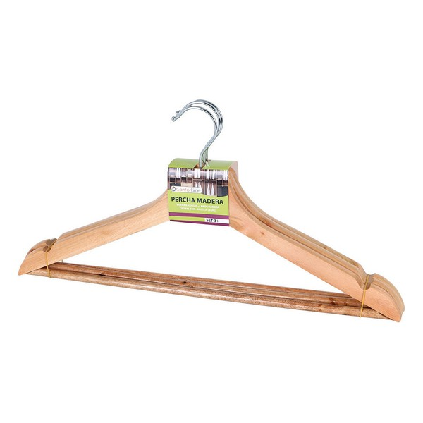 Hangers Confortime Wood (3 Pcs)
