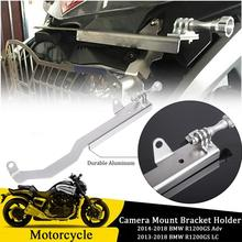 Aluminum Bracket Holder Cam Camera Mount for BMW R1200GS Adv Motorrad Gopro 4 5