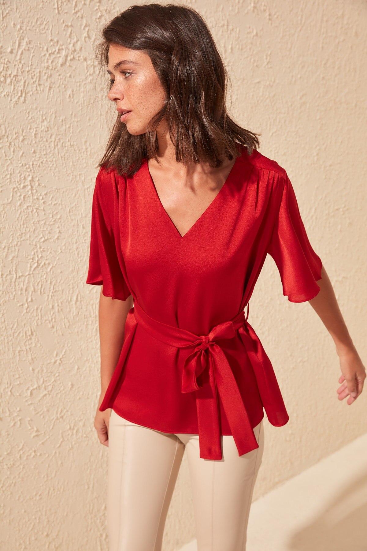 Trendyol Shirred Waistband Detailed Bluz TWOSS20BZ0552
