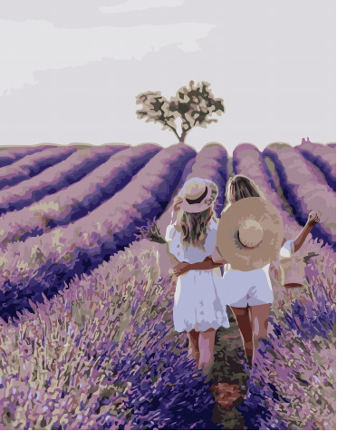 Painting By Numbers PK 51021 Girlfriends In Provence 40*50