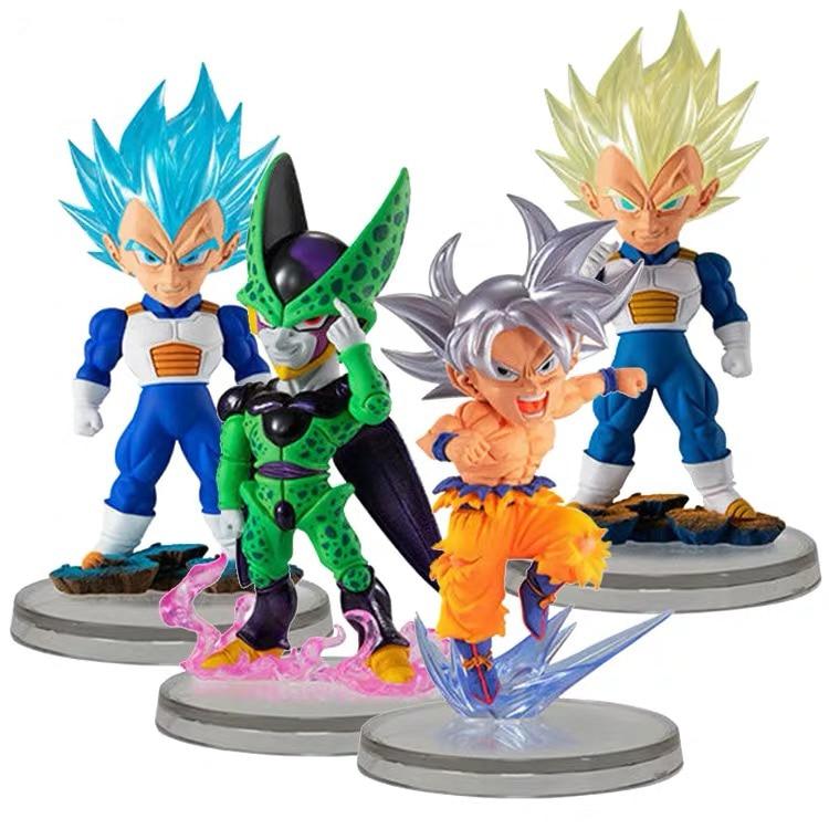 Dragon Ball Super Figure UG10 Guku Cell Vegeta Gashapon Set PVC Model Figurals Dolls Toys