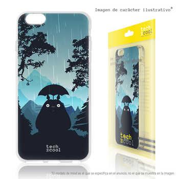 FunnyTech®Stand case for Motorola Moto Silicone E5 l My Neighbor Totoro design 1 fund Blue