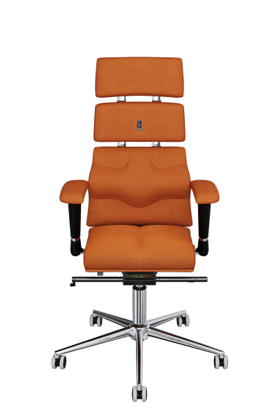 Office Chair KULIK SYSTEM PYRAMID Orange Computer Chair Relief And Comfort For The Back 5 Zones Control Spine