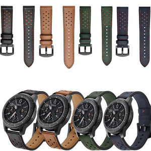 Ремешок для часов Samsung Galaxy, 22 мм, ремешок из натуральной кожи для часов Samsung Galaxy, Huawei, Gt 2, 46 мм, Gear S3 Frontier/Classic, Amazfit, Pace1, 2