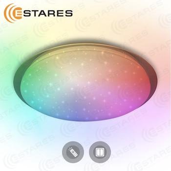Управляемый потолочный светильник Estares SATURN 60W RGB R-470-SHINY/WHITE-220-IP44 /2019
