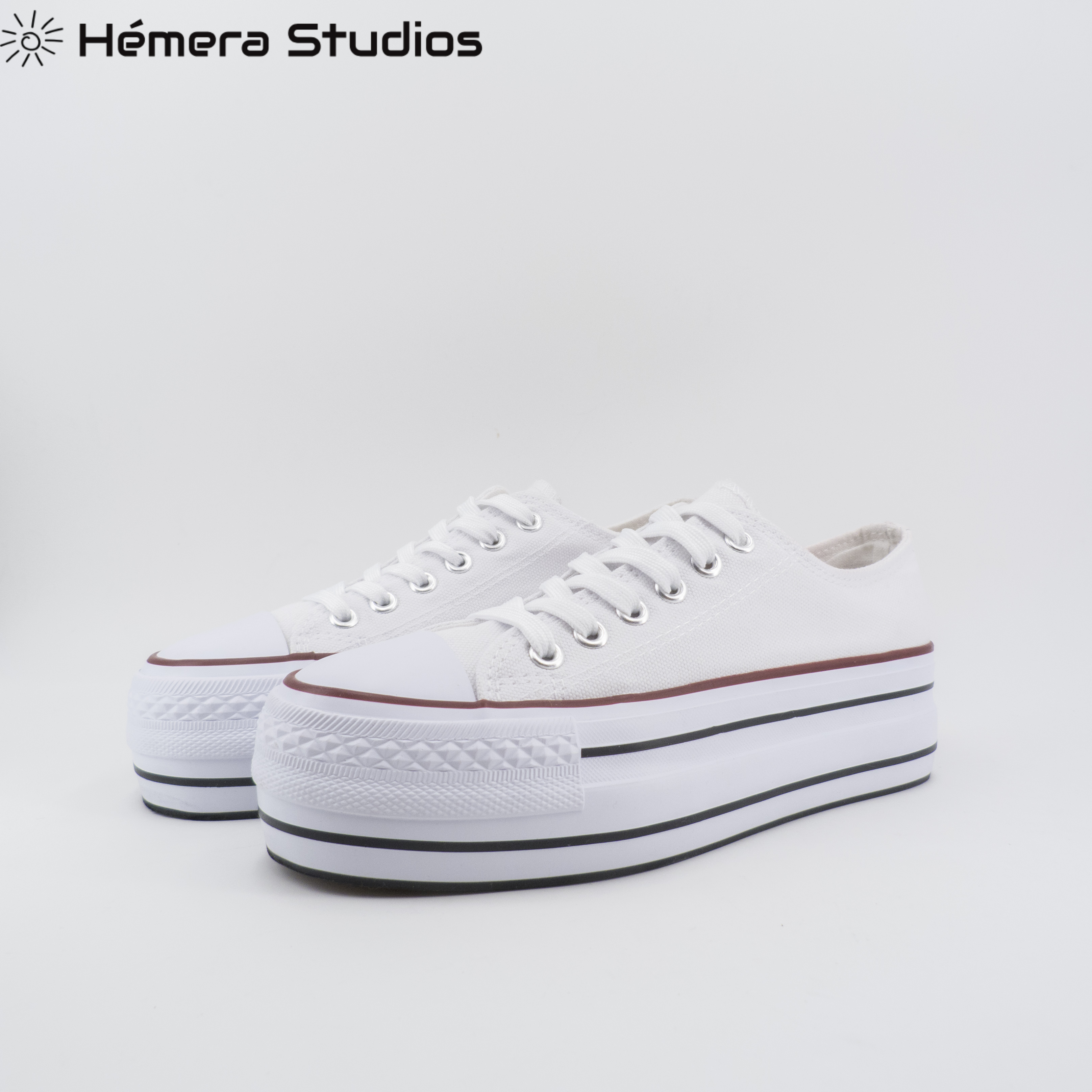 Canvas Sneakers For Women With Close's Lacing And Toecap's Rubber Gum Footwear Triple Sole Style Casual Nueva Collection Tracks