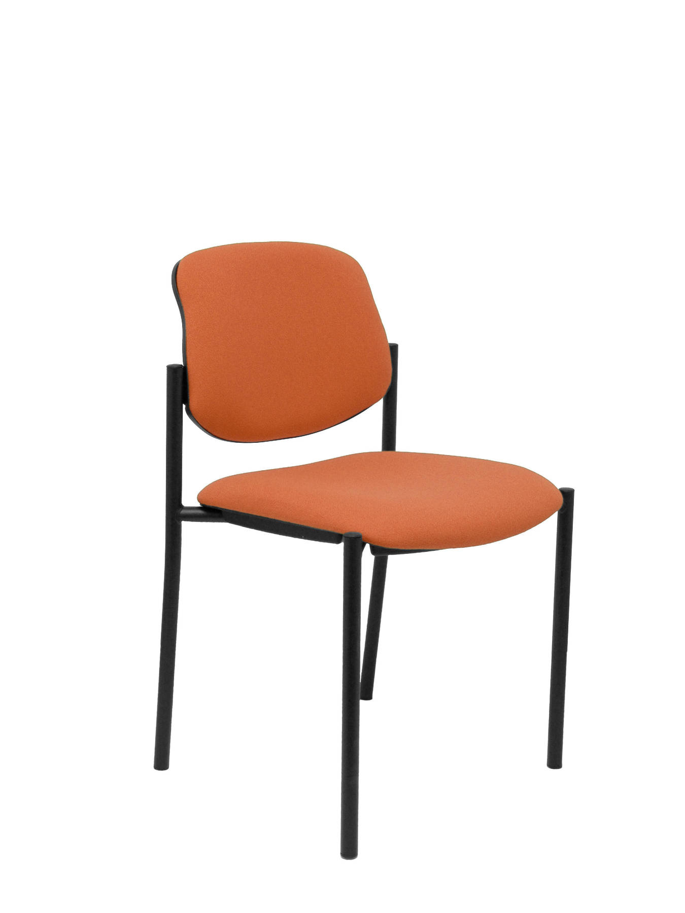 Visitor Chair 4's Topsy And Estructrua Negro-up Seat And Backstop Upholstered In BALI Tissue Color Brown TAPHOLE AND CR