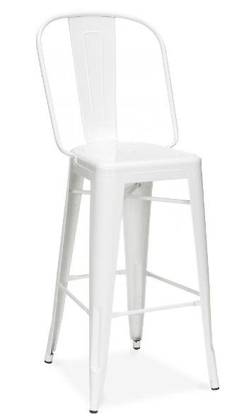 Stool HI, White Steel
