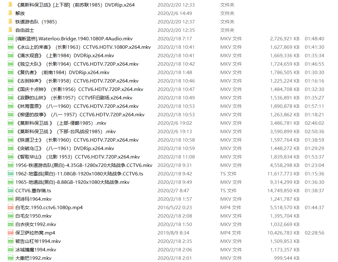 115网盘174G 老电影