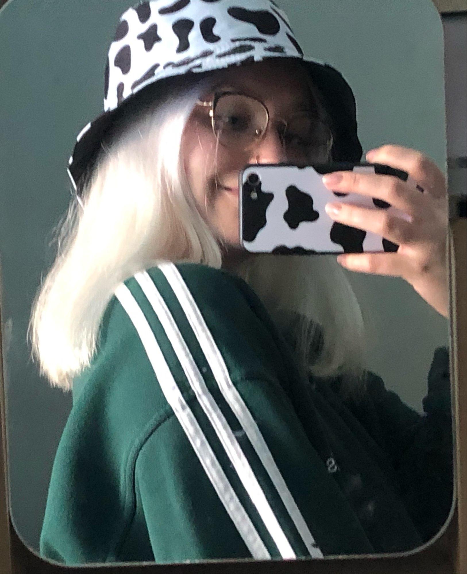 Black White Cow Print Bucket Hat photo review