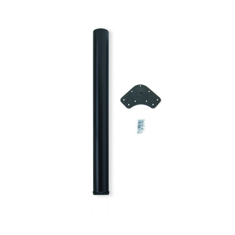 Table Leg Dimmable Emuca D. 60x870mm Steel Painted Black