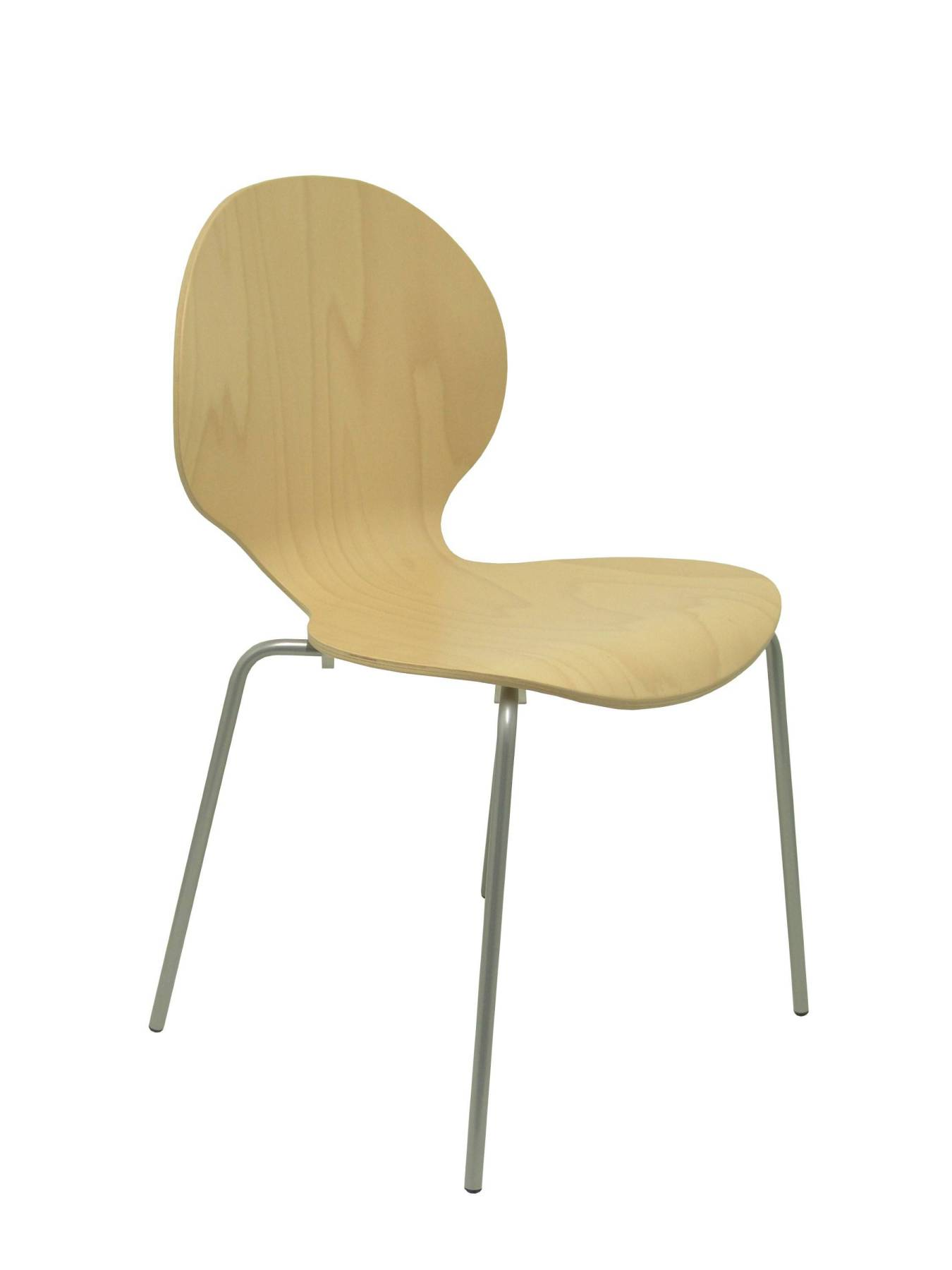 Pack 4 Chairs Confident Structure Gray-Seat And Backrest Beech Wood PIQUERAS & CURLED Model Peñas