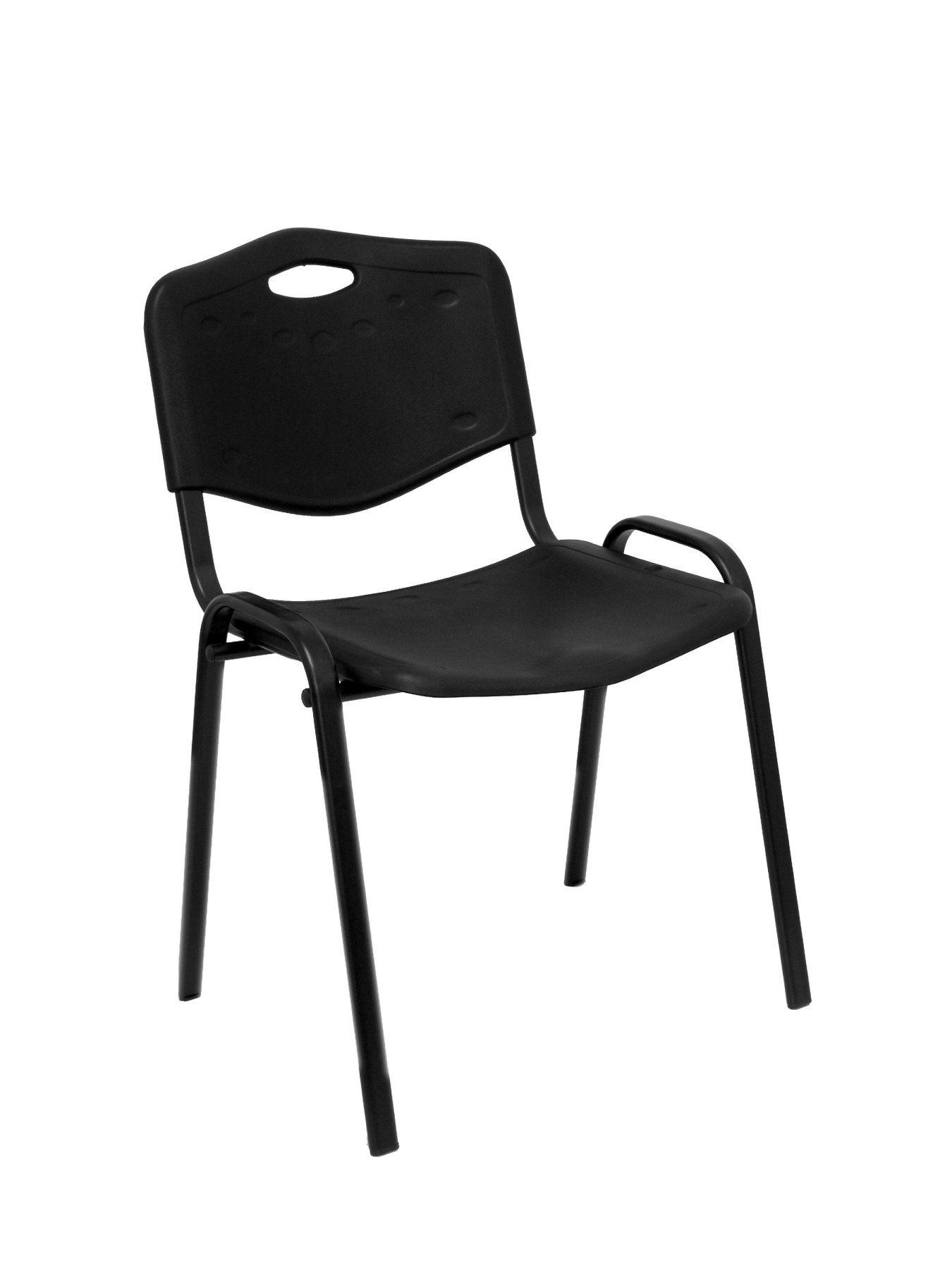 Pack 4 Chairs Confident Desk Ergonomic, Stackable, Multipurpose And Black Color Up Seat And Backstop Structure In PVC Col