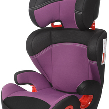 Play Safe Two car seat, group 2/3 (from 15 to 36 kg), height-adjustable head, no isofix, violet color