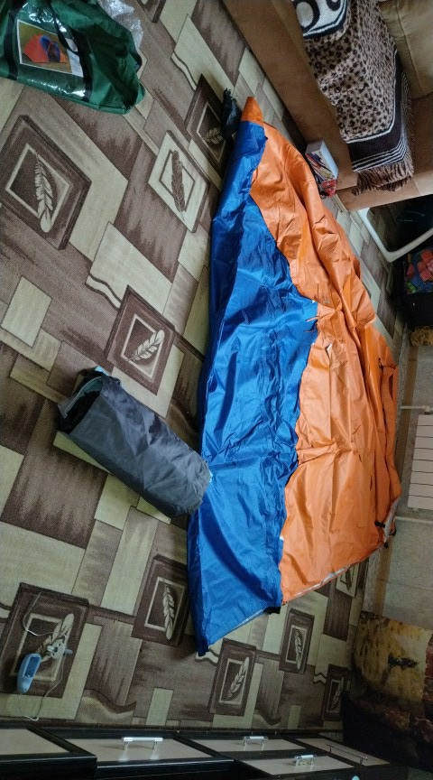 5-8 Person Large Camping Tent Double Layer Waterproof Two Bedrooms Travel Tent for Family Party Travel Fishing 420x220x175CM