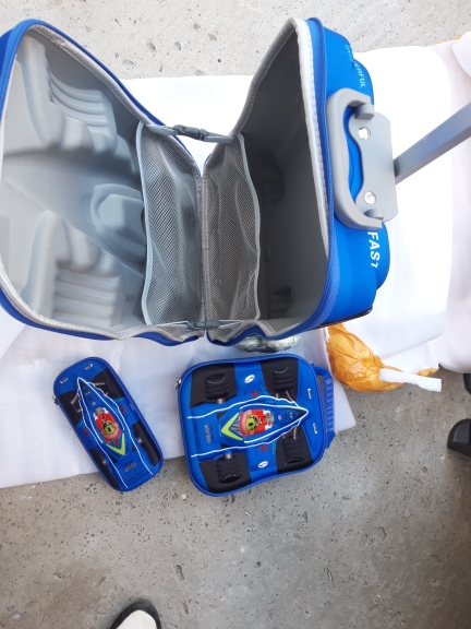 Kids Cars Travel Luggage 3D Stereo Climb Stairs Pull Rod Box Cartoon Child Pencil Box Children Cool Suitcase Gift Boarding Box