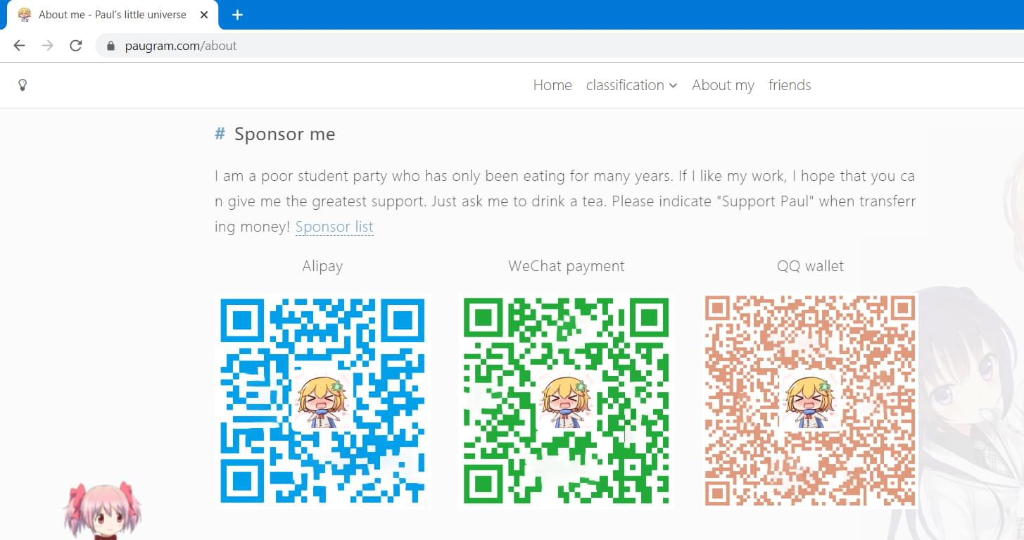Multiple Qrcodes on a Website (Google Translated from Chinese)