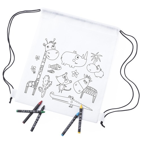 Lot 25 Backpacks Puzzles Child Safari With 5 Waxes-Details And Gifts For Weddings, Christening Suits, Communions, Birthday And Holiday.