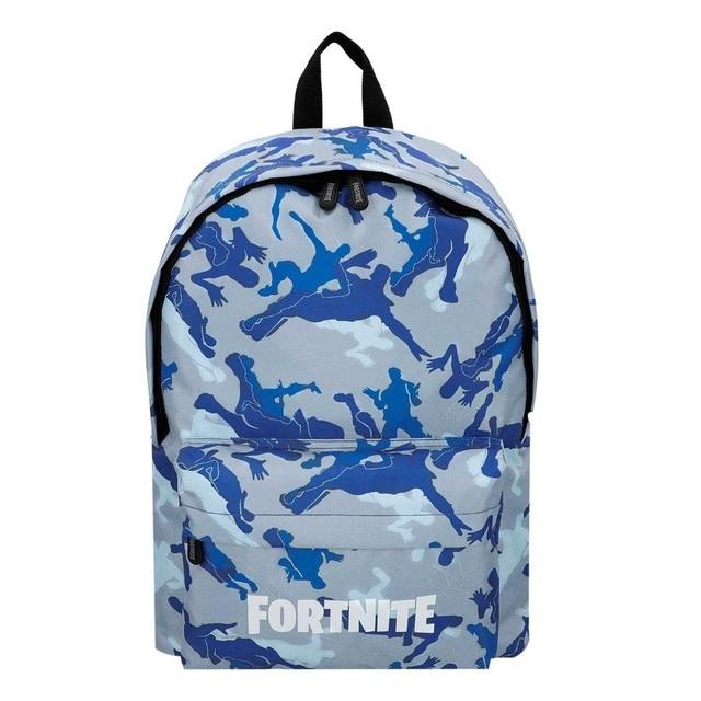 Blue camouflage Fortnite backpack 31x43 cm