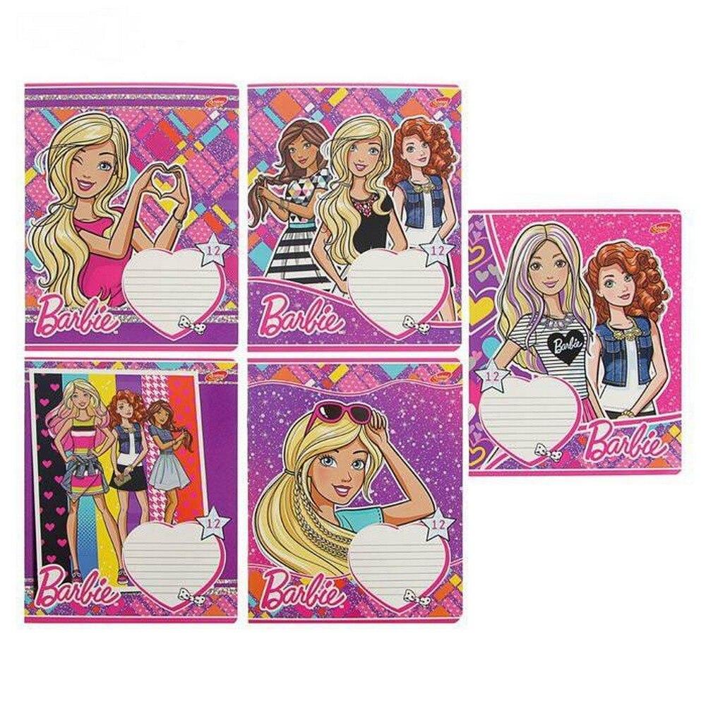 Тетрадь Barbie 12 листов клетка