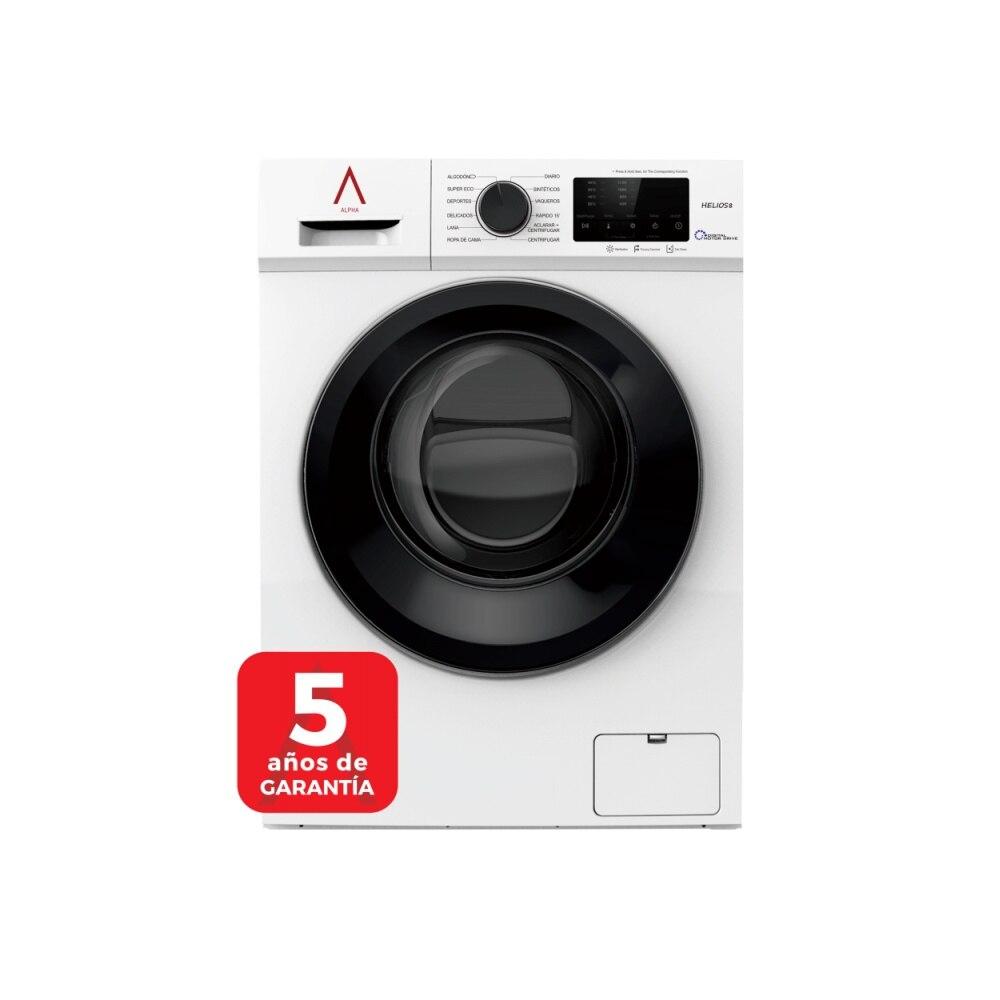 ALPHA Washing Machine HELIOS8, White, 8kg, 1.200rpm, Door XXL, Digital Engine Drive, TO +++, * * High-End **