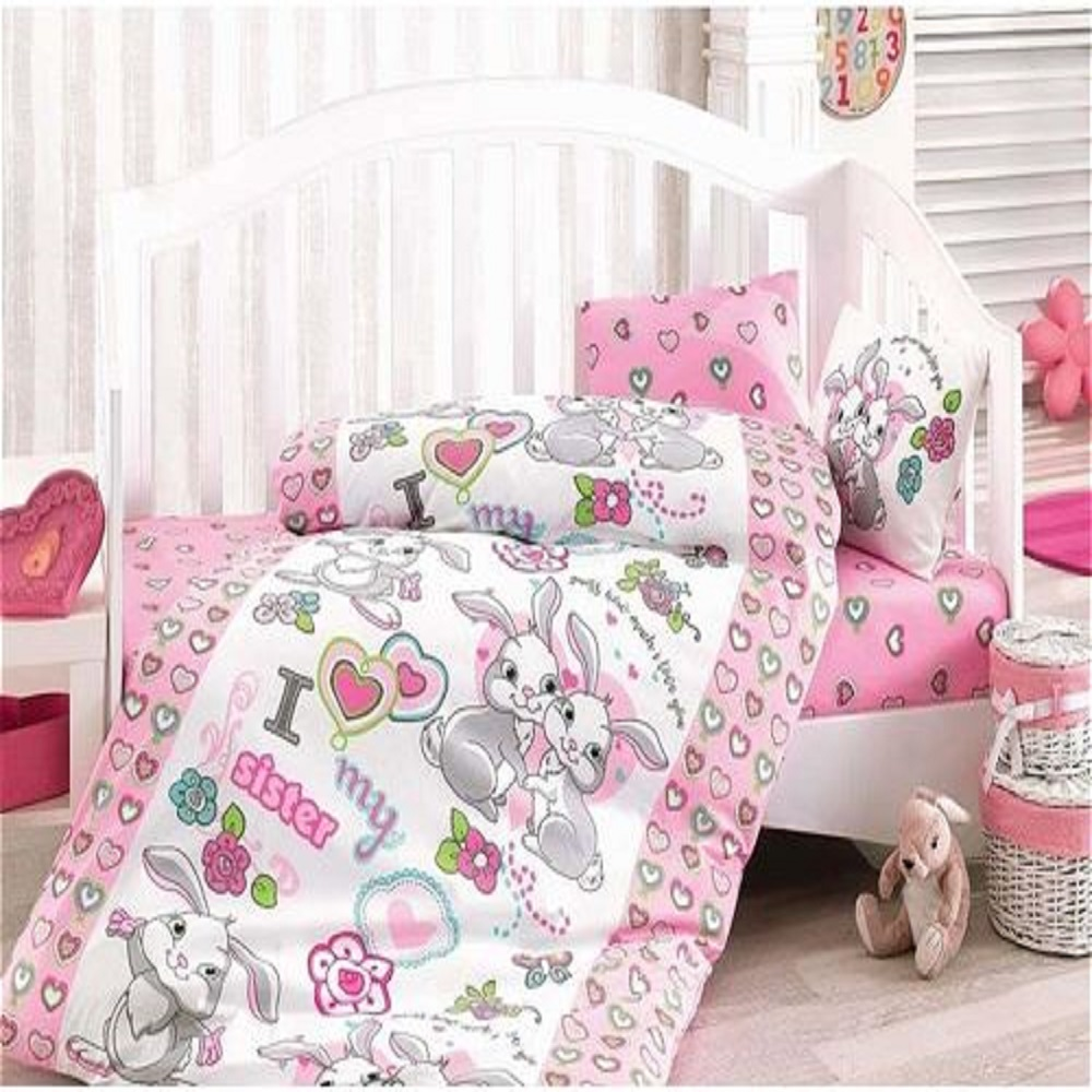 Made In Turkey BUNNY Infant Baby Crib Bedding Bumper Set For Boy Girl Nursery Cartoon Animal Baby Cot Cotton Soft Antiallergic