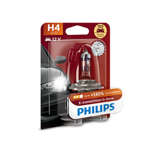 PHILIPS 12342XVGB1 H4 12 V-60/55 W (P43t) (+ 130% light + вибростойкая) x-tremeVision G-Force blister card (1 pc) 63183