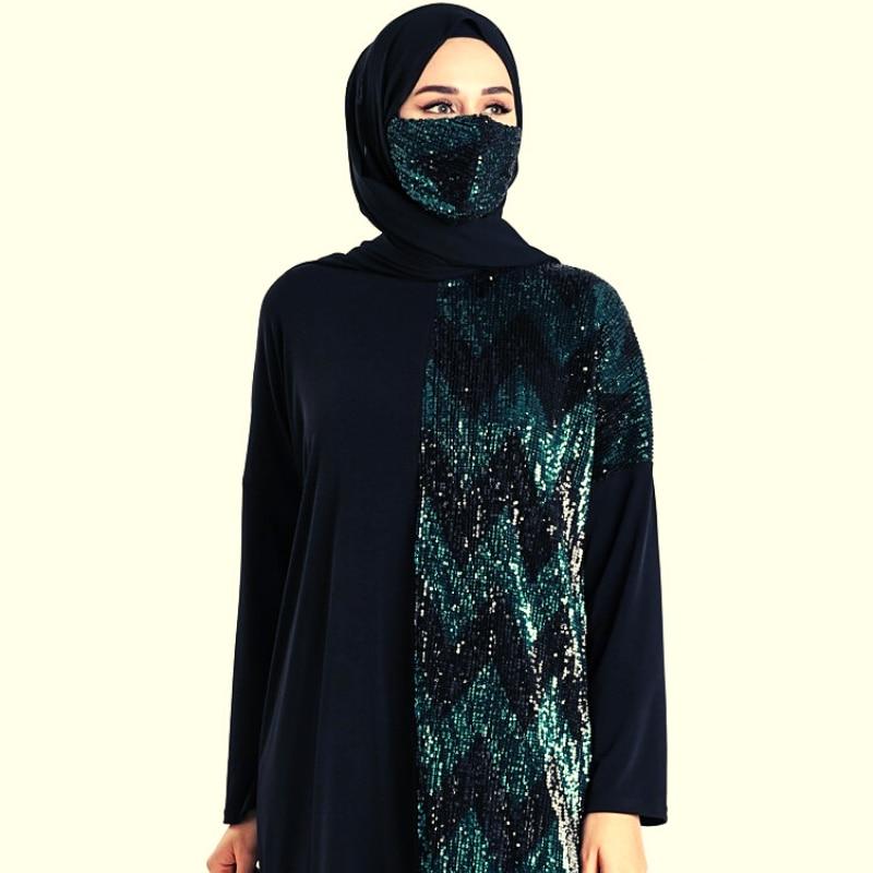 2 pieces Abayas Muslim Dress Women Abaya Dubai Hijab Dress мусульманская одежда Ensemble Femme Musulmane islamic Gift العبايات 2