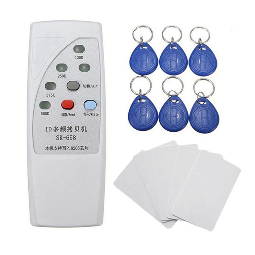 SK658 RFID алгоритм многочастотного Дубликатор duplo и 125 кГц-500 кГц копиры писатель RFID кард-ридер для двери доступа Управление