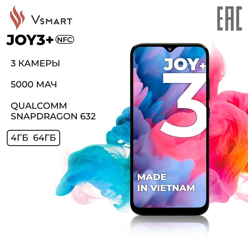 Vsmart Смартфон Joy 3+ 4/64 GB , NFC [Ростест, Быстрая доставка из России, Официальная гарантия]