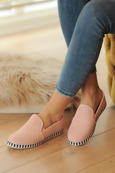 Różowe buty damskie Potin A330-20 tanie i dobre opinie Pembe Potin Oksfordzie TR (pochodzenie) Sztuczna skóra Gumką Pasuje prawda na wymiar weź swój normalny rozmiar Na co dzień