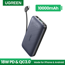 Power-Bank Lightning-Cable Fast-Phone-Charger External-Battery Ugreen iPhone 10000mah