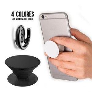 Soporte popsocket для универсального телефона для смартфона Грибная ручка штырь задний с магнитом + автомобильный адаптер в цветах
