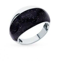 Серебряное кольцо с керамикой и авантюрином SUNLIGHT проба 925