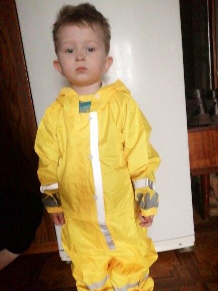 Kids Waterproof Rain Pants New 2020 Waterproof Overalls 3-8Yrs Baby Boys Girls Jumpsuit Fashion Children Raincoat Clj016 photo review