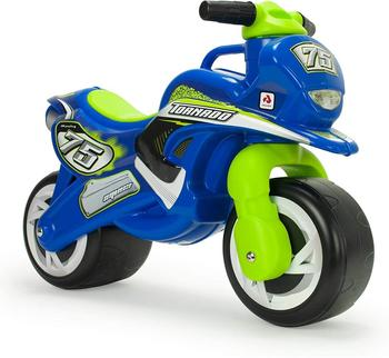 INJUSA-children's toy motorcycle running corridors with permanent and waterproof decoration for children + 18 months, blue and Green недорого
