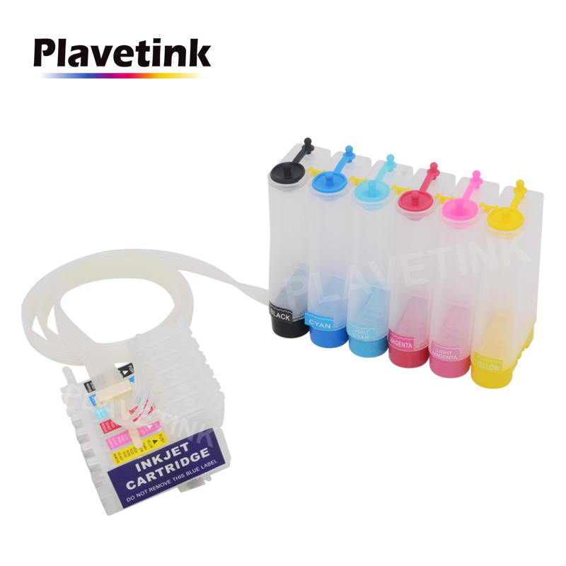 Plavetink 6 Color CISS Ink System For <font><b>Epson</b></font> Stylus Photo <font><b>1400</b></font> 1500W P50 Artisan 1430 PX650 <font><b>Printer</b></font> T0791 Continuous ink Tank image