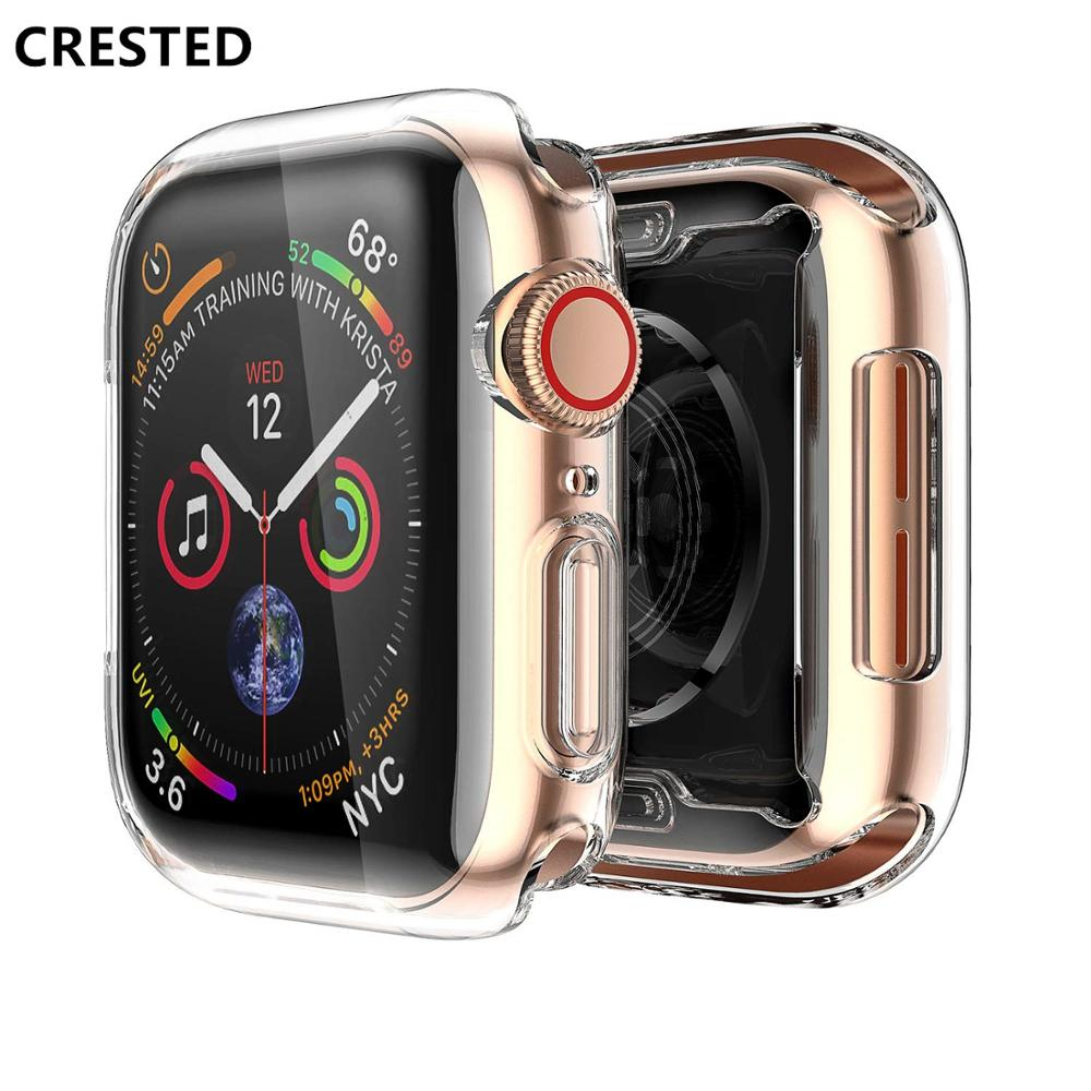 Soft cover case For Apple Watch band apple watch 4 3 case  42mm/38mm/44mm 40mm iwatch band All-around Ultra-thin Clear frame цвета apple watch 4