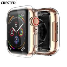 Soft cover case For Apple Watch band apple watch 4 3 5 case 42mm/38mm/44mm 40mm iwatch band All-around Ultra-thin Clear frame цены