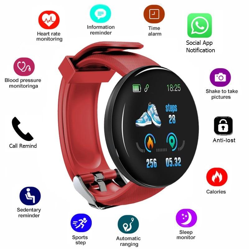 2019 New Bluetooth Smart Watch Men Fitness Bracelet Blood Pressure Round Smartwatch Women Waterproof Sport Tracker WhatsApp Kids